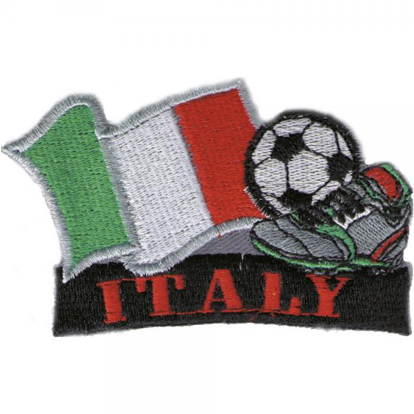 AUFNÄHER - Landesflagge Fussball ITALY - Gr. ca. 8 x 5cm (77918) Stick Applikation Patches Motivstick - Italien