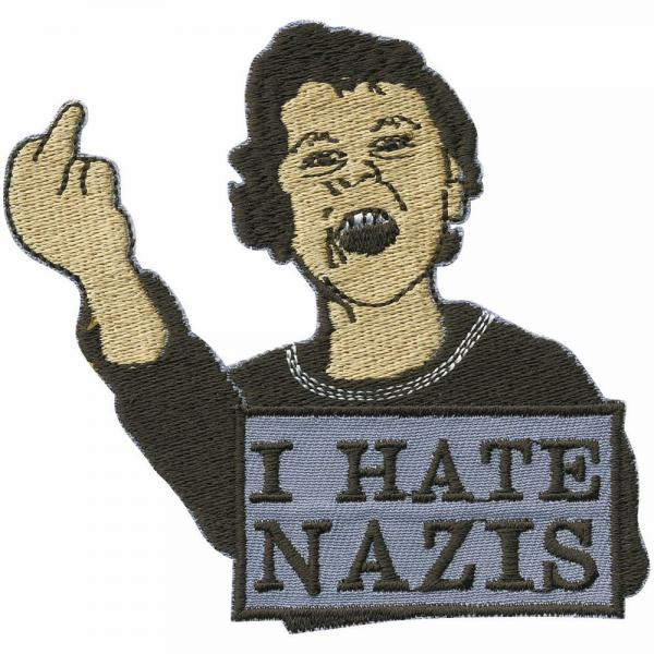 Aufnäher Applikation - I hate Nazis - 00016 - Gr. ca 8 x 6 cm
