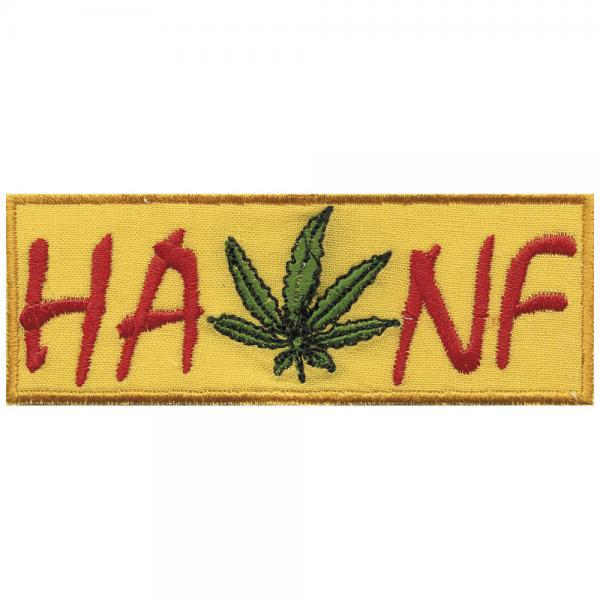 AUFNÄHER - Hanf - 03297 - Gr. ca. 11 x 4 cm - Patches Stick Applikation