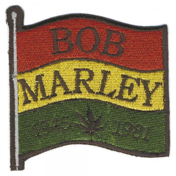 AUFNÄHER - Bob Marley - 04720 - Gr. ca. 7 x 7 cm - Patches Stick Applikation