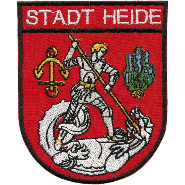 AUFNÄHER - Stadt Heide - 00460 - Gr. ca. 7,5 x 9,5 cm - Patches Stick Applikation
