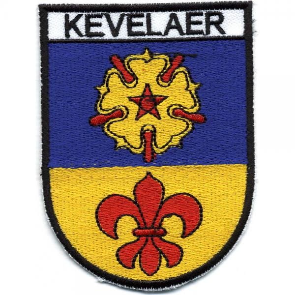 AUFNÄHER - Wappen KEVELAER - 01731 Gr. ca. 9 x 7 cm - Patches Stick Applikation