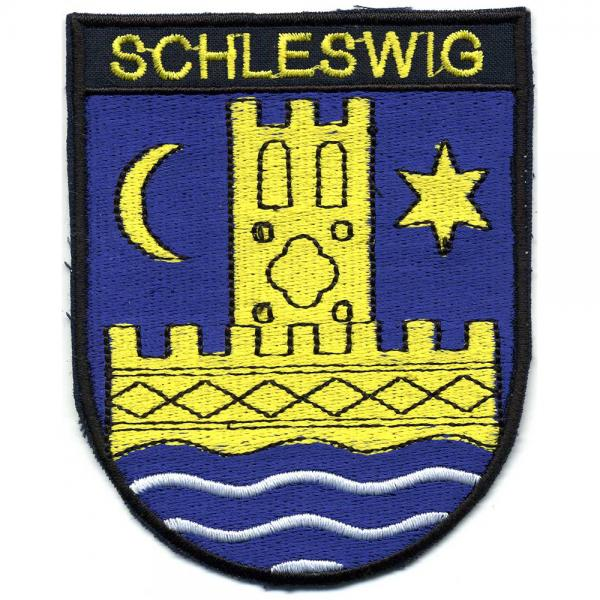 AUFNÄHER - Wappen - SCHLESWIG - 01757- Gr. ca. 9,5  x 7,5 cm - Patches Stick Applikation