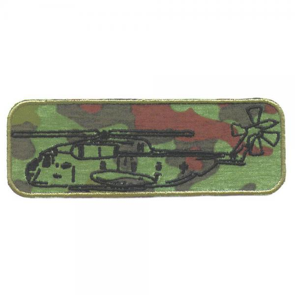 Aufnäher - Hubschrauber Military - 03277 - Gr. ca. 11,5 x 4 cm - Patches Stick Applikation