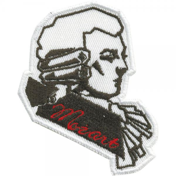 Aufnäher - Mozart - 00875 - Gr. ca. 8 x 6 cm - Patches Stick Applikation