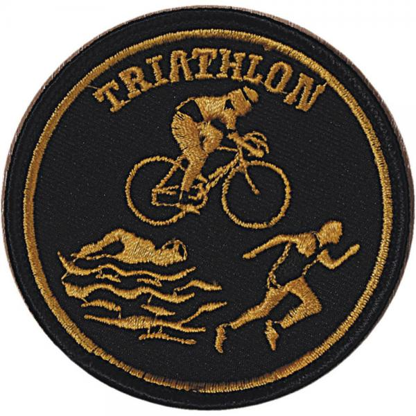 Aufnäher - Triathlon - 04396 - Gr. ca. Ø 8 cm - Patches Stick Applikation