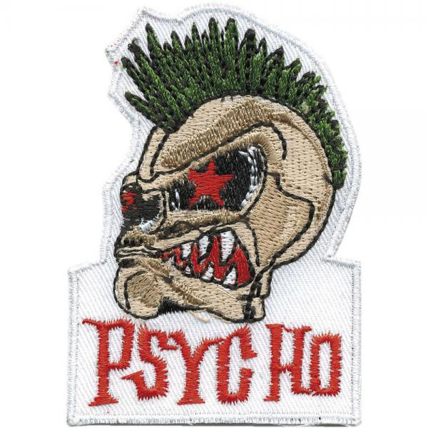 Aufnäher - Psycho - 01832 - Gr. ca. 8 x 5,5 cm - Patches Stick Applikation