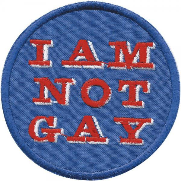 Aufnäher - I am not Guy - 01934 - Gr. ca. 8 cm - Patches Stick Applikation