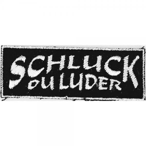 Aufnäher - Schluck ou Luder - 04048 - Gr. ca. 9,5 x 3,5 cm - Patches Stick Applikation