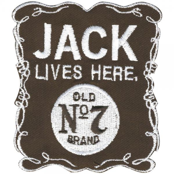 Aufnäher - JACKE LIVES HERE - 06136 - Gr. ca. 7,5 x 8,5 xm - Patches Stick Applikation