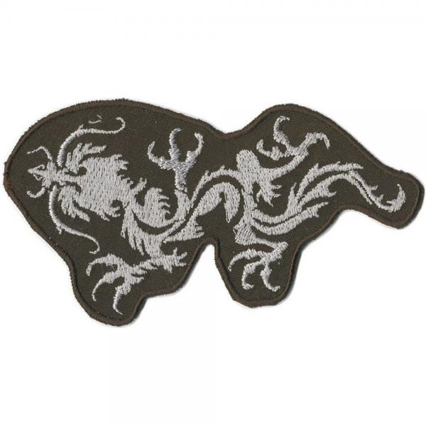 Aufnäher - Drachen Tattoo - 04623 - Gr. ca. 11,5 x 6 cm - Patches Stick Applikation