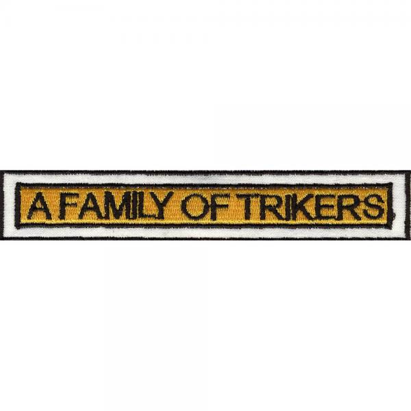 AUFNÄHER - A Family of Trikers - 06155 - Gr. ca. 12 x 2 cm - Patches Stick Applikation