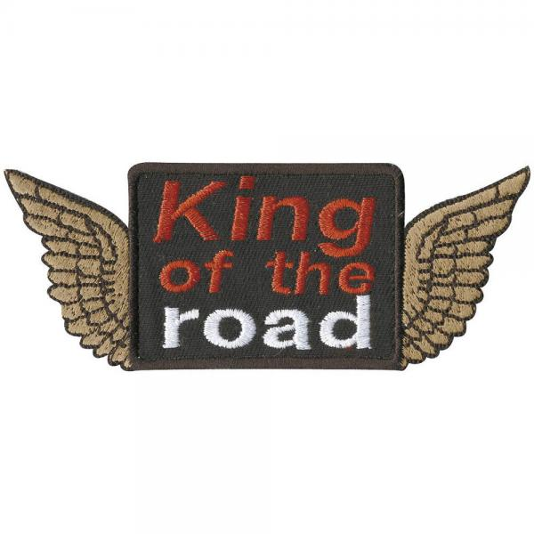 Aufnäher - King of the Road - 03031 - Gr. ca. 11 x 4,5 cm - Patches Stick Applikation