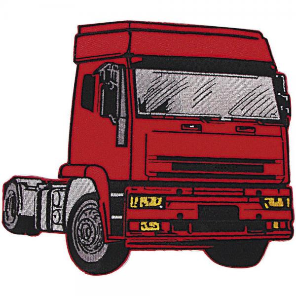 AUFNÄHER - Roter Truck - 04814 - Gr. ca. 12 x 10 cm - Patches Stick Applikation