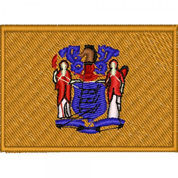AUFNÄHER - USA - New Jersey - 05581 - Gr. ca. 8 x 5 cm - Patches Stick Applikation