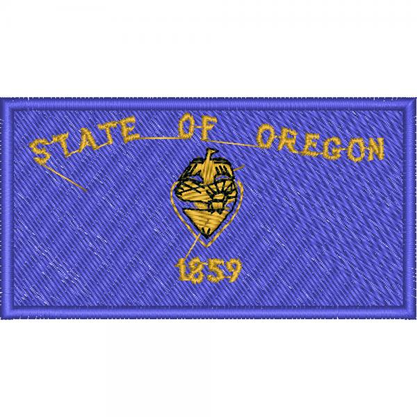 AUFNÄHER - USA - Oregon - 05587 - Gr. ca. 8 x 5 cm - Patches Stick Applikation