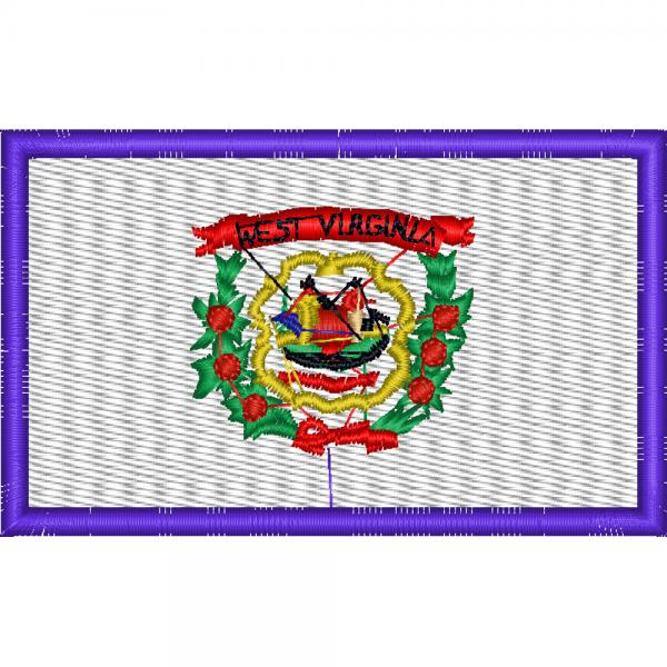 AUFNÄHER - USA - West Virginia - 05598 - Gr. ca.8 x 5 cm - Patches Stick Applikation