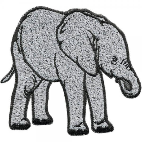 Aufnäher - Elefant - 06139 - Gr. ca. 9 x 8 cm - Patches Stick Applikation