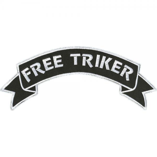 Rückenaufnäher - Free Triker - 08536 - Gr. ca. 28 x 7 cm - Patches Stick Applikation
