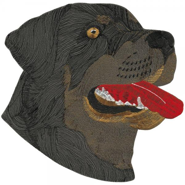 Aufnäher - Hundekopf Rottweiler - 08573 - Gr. ca. 26 x 23 cm - Patches Stick Applikation