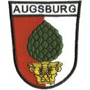 AUFNÄHER - Wappen - AUGSBURG - 01797 - Gr. ca. 8 x 11 cm - Patches Stick Applikation